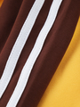 Комплект: лонгслив укороченный и бриджи облегающие со средней посадкой, цвет: шафран,коричн
