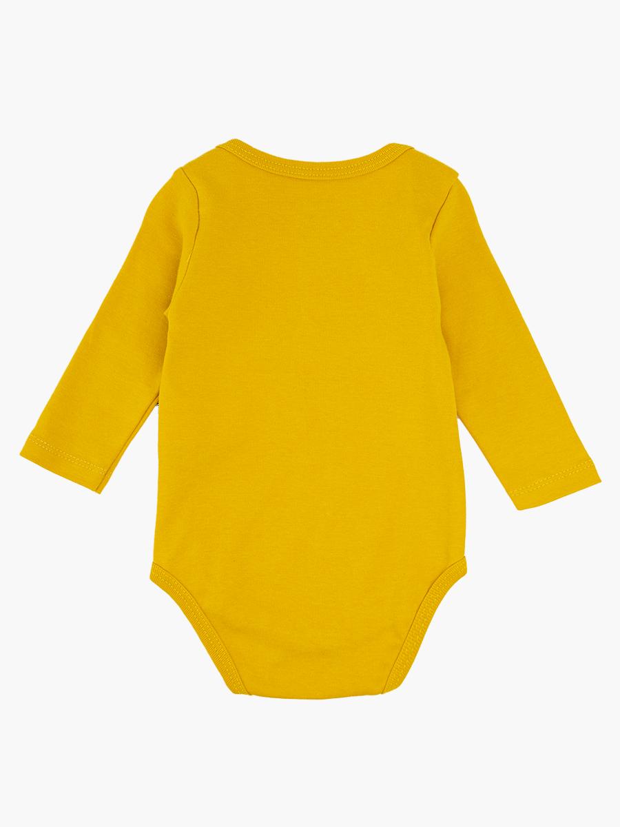 Комплект для мальчика: боди, ползунки и шапочка, цвет: горчичный