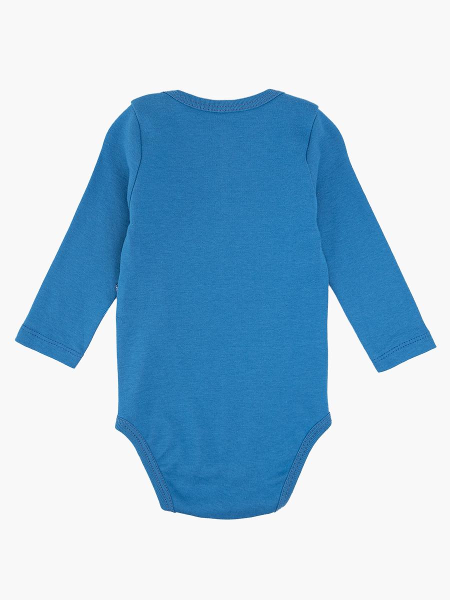 Комплект для мальчика: боди, ползунки и шапочка, цвет: деним