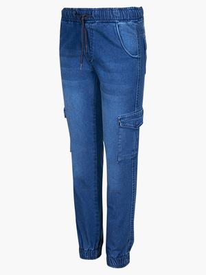 Брюки карго джинсовые для девочки