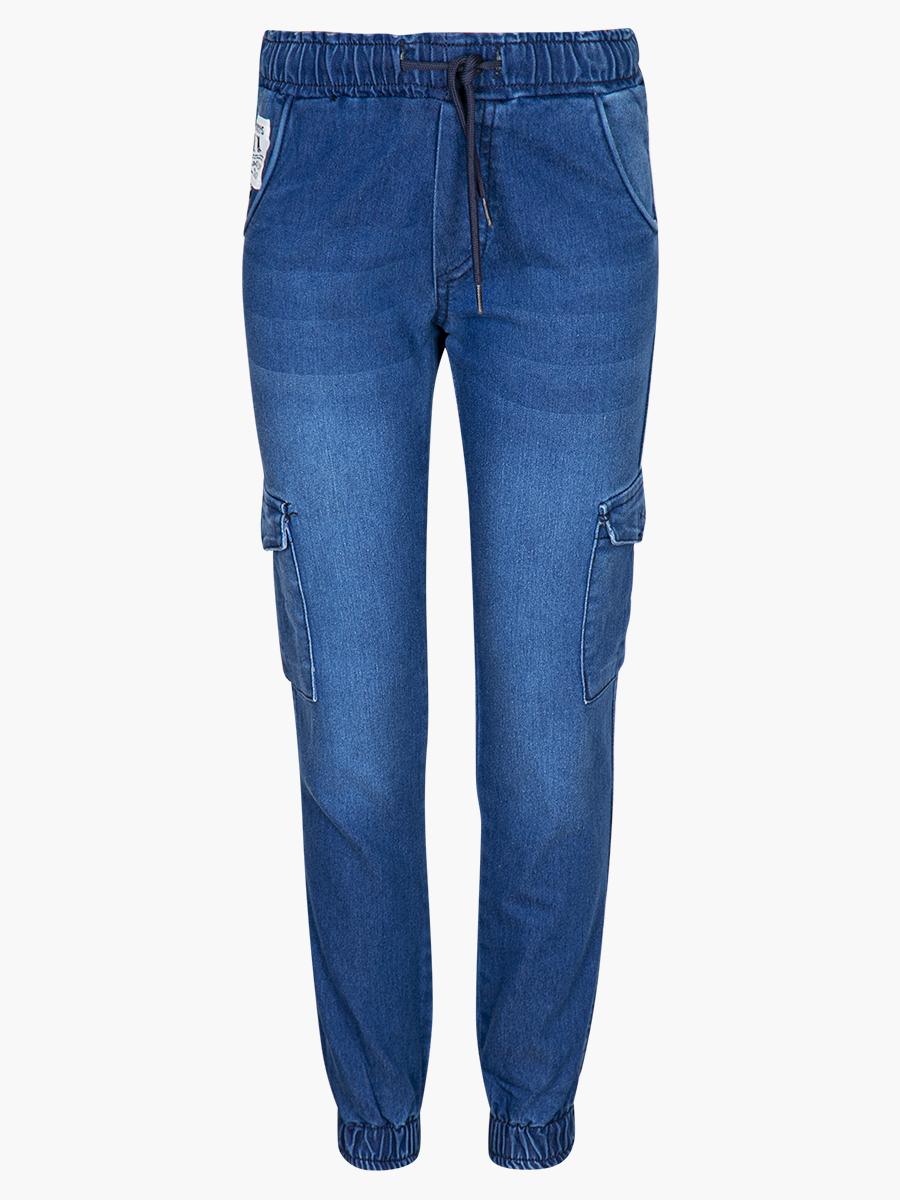 Брюки карго джинсовые для девочки, цвет: деним