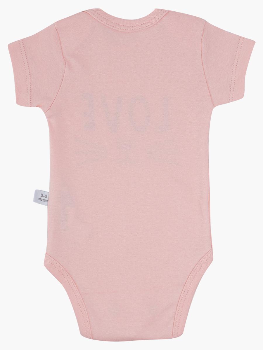 Комплект из 2-х боди и ползунков, цвет: светло-розовый