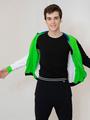 Толстовка для мальчика, цвет: зеленый неон