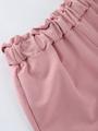 Брюки спортивные зауженные по низу на манжете для девочки, цвет: пудра