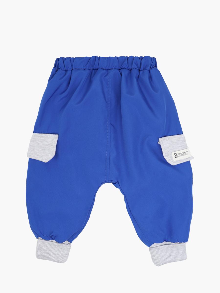 Комплект для мальчика: толстовка и штанишки болоньевые, цвет: синий