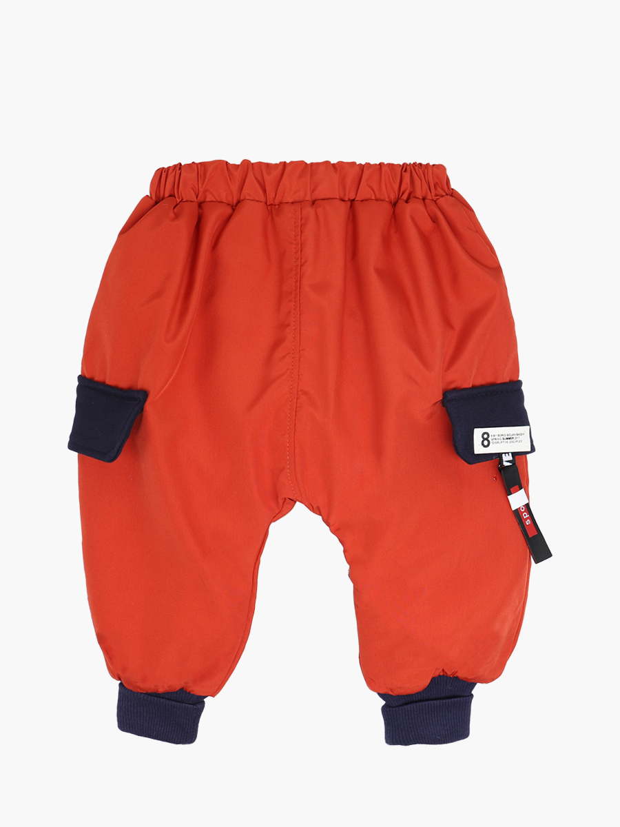 Комплект для мальчика: толстовка и штанишки болоньевые, цвет: кирпичный