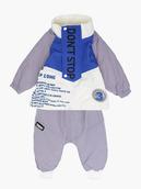 Комплект для мальчика: кофточка трикотажная, ветровка и штанишки болоньевые