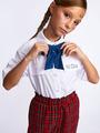 Галстук-бабочка для девочки с регулируемой застежкой., цвет: темно-синий
