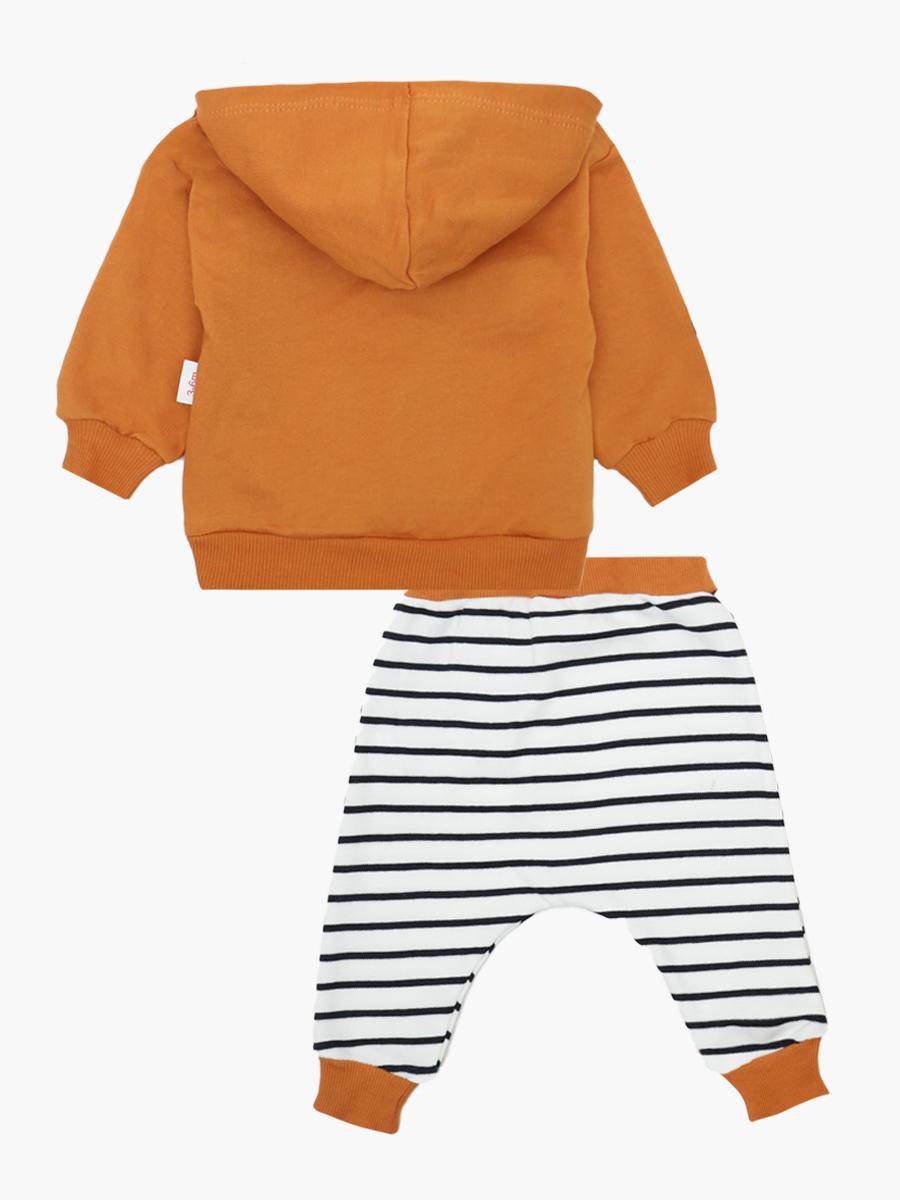 Комплект детский: толстовка и штанишки, цвет: терракотовый
