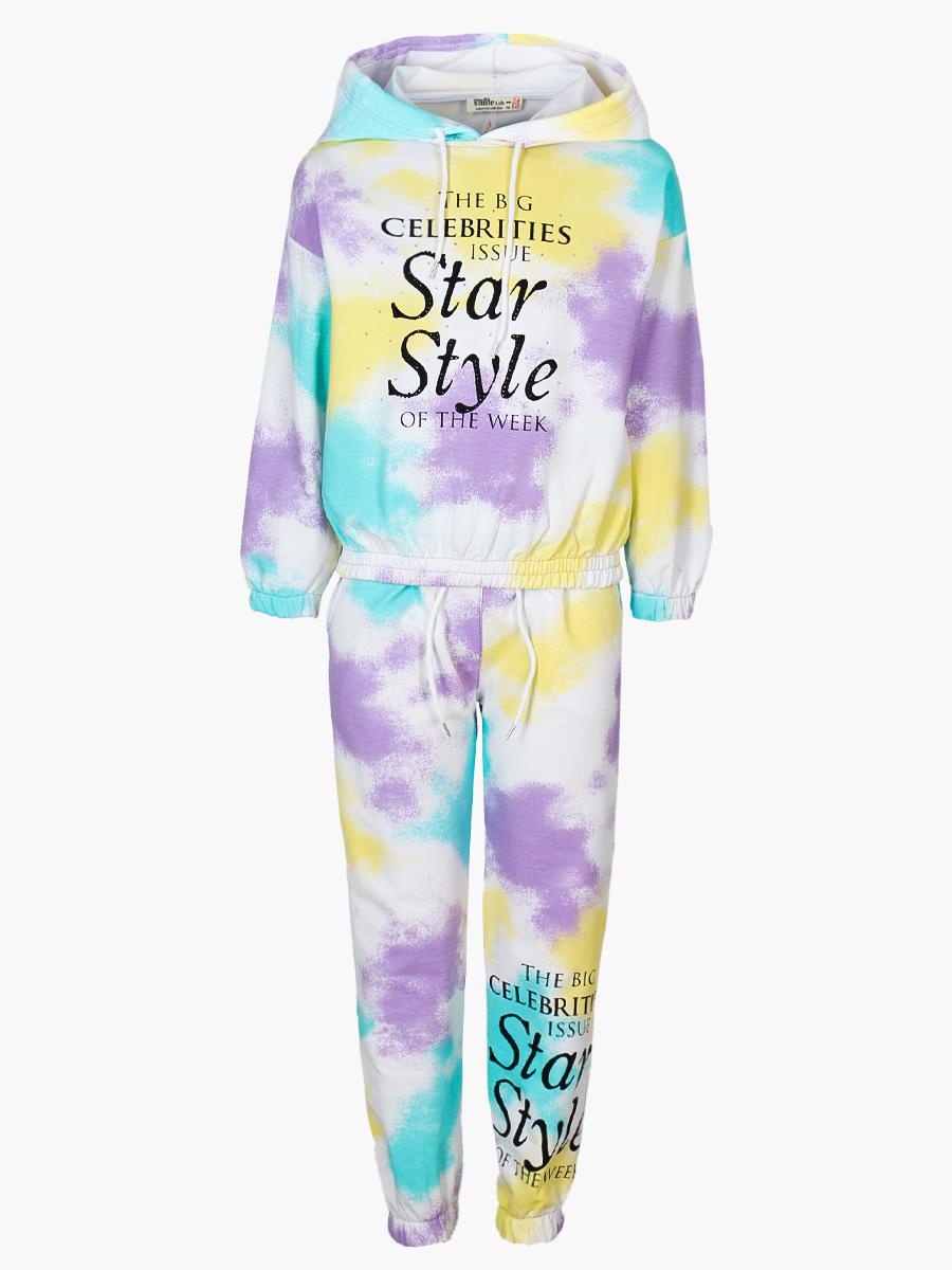 Комплект для девочки: толстовка и штанишки, цвет: мятный