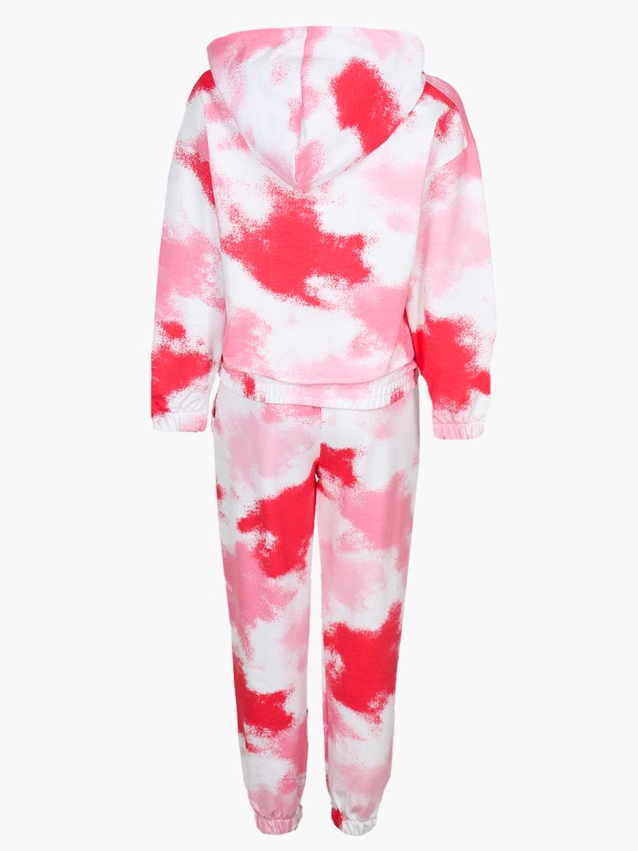 Комплект для девочки: толстовка и штанишки, цвет: розовый