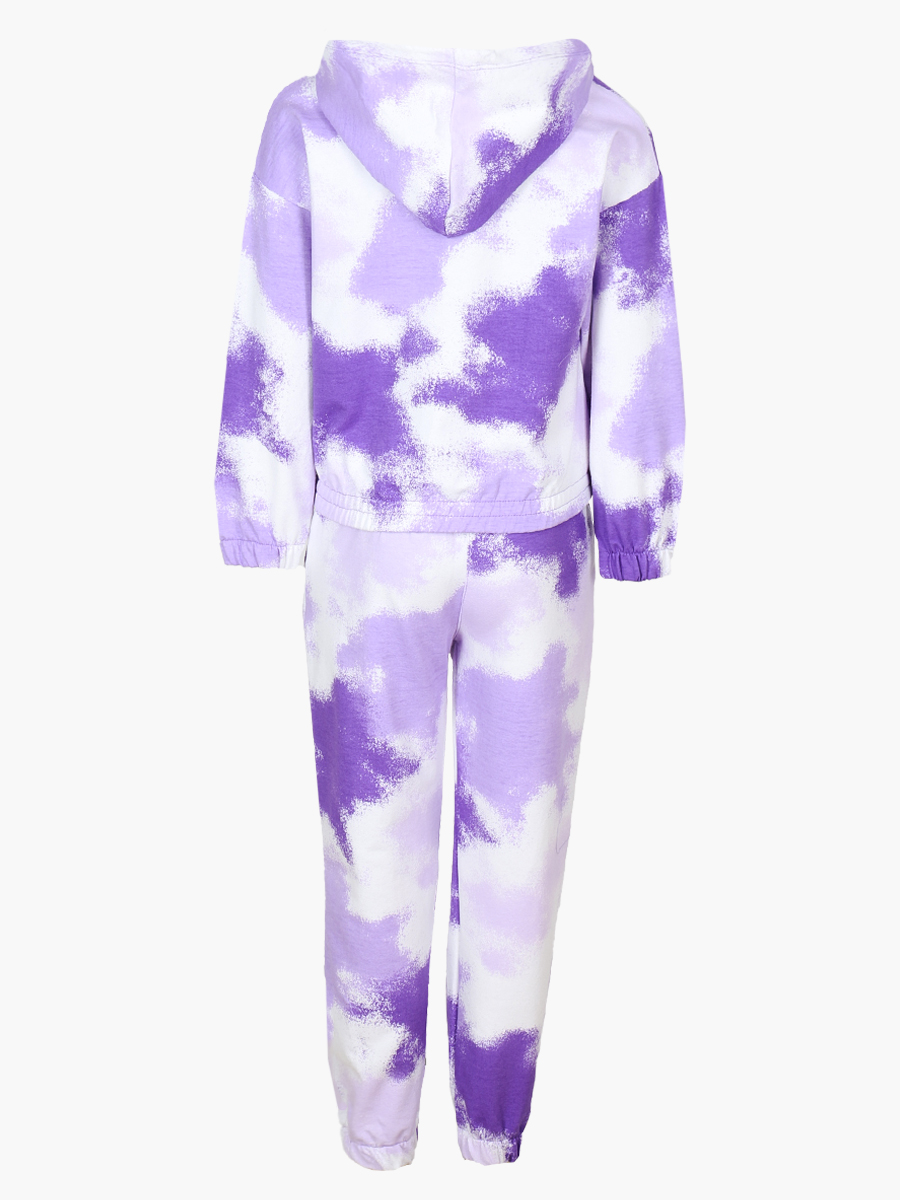 Комплект для девочки: толстовка и штанишки, цвет: фиолетовый