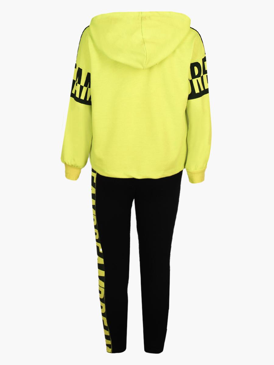 Комплект для девочки: толстовка и штанишки, цвет: желтый