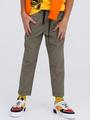 Брюки прямые со средней посадкой для мальчика, цвет: темный хаки