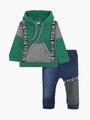 Комплект для мальчика: толстовка и штанишки, цвет: зеленый