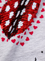Джемпер для девочки декорирован двустронними пайетками, цвет: серый меланж