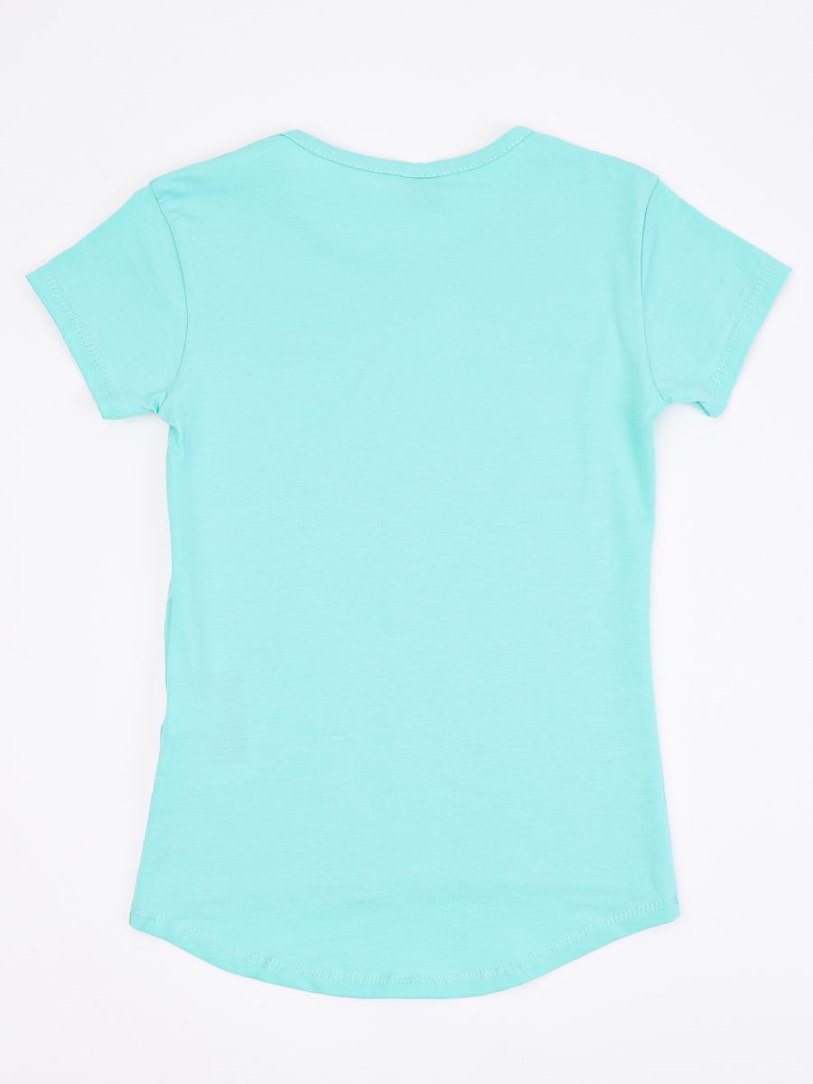 Джемпер для девочки декорирован двустронними пайетками, цвет: мятный