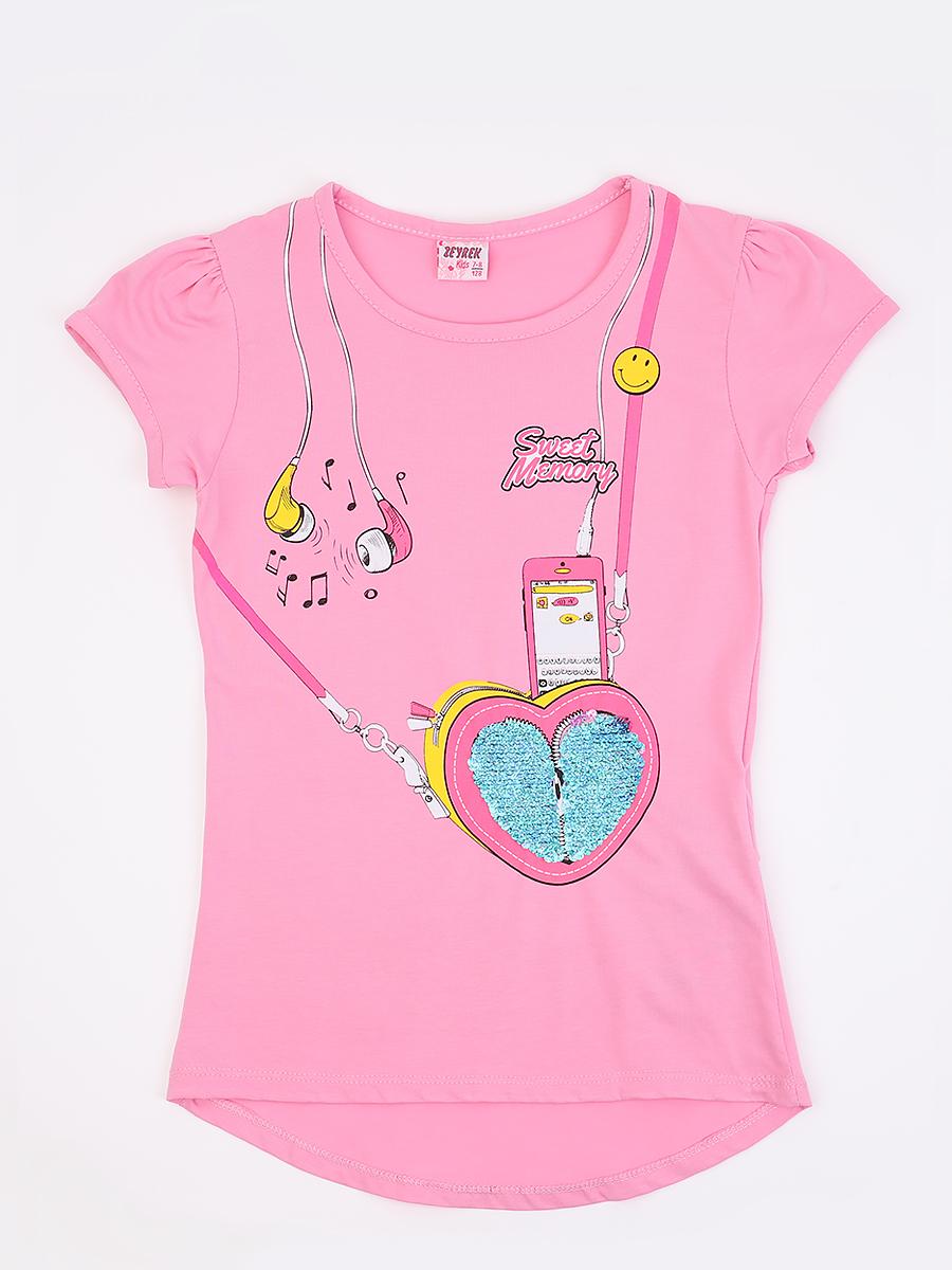 Джемпер для девочки декорирован двустронними пайетками, цвет: светло-розовый