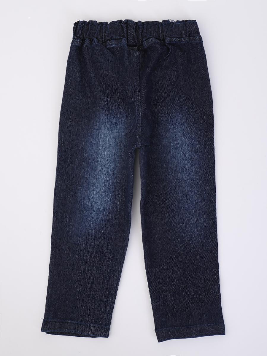 Комплект для мальчика: рубашка, брюки джинсовые, бабочка, цвет: желтый