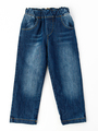 Комплект для мальчика: кофточка, брюки джинсовые, жилет, цвет: коричневый