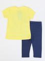 Комплект для девочки: футболка и бриджи, цвет: желтый