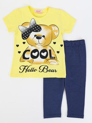 Комплект для девочки: футболка и бриджи