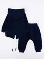 Костюм спортивный для мальчика: толстовка и брюки, цвет: темно-синий