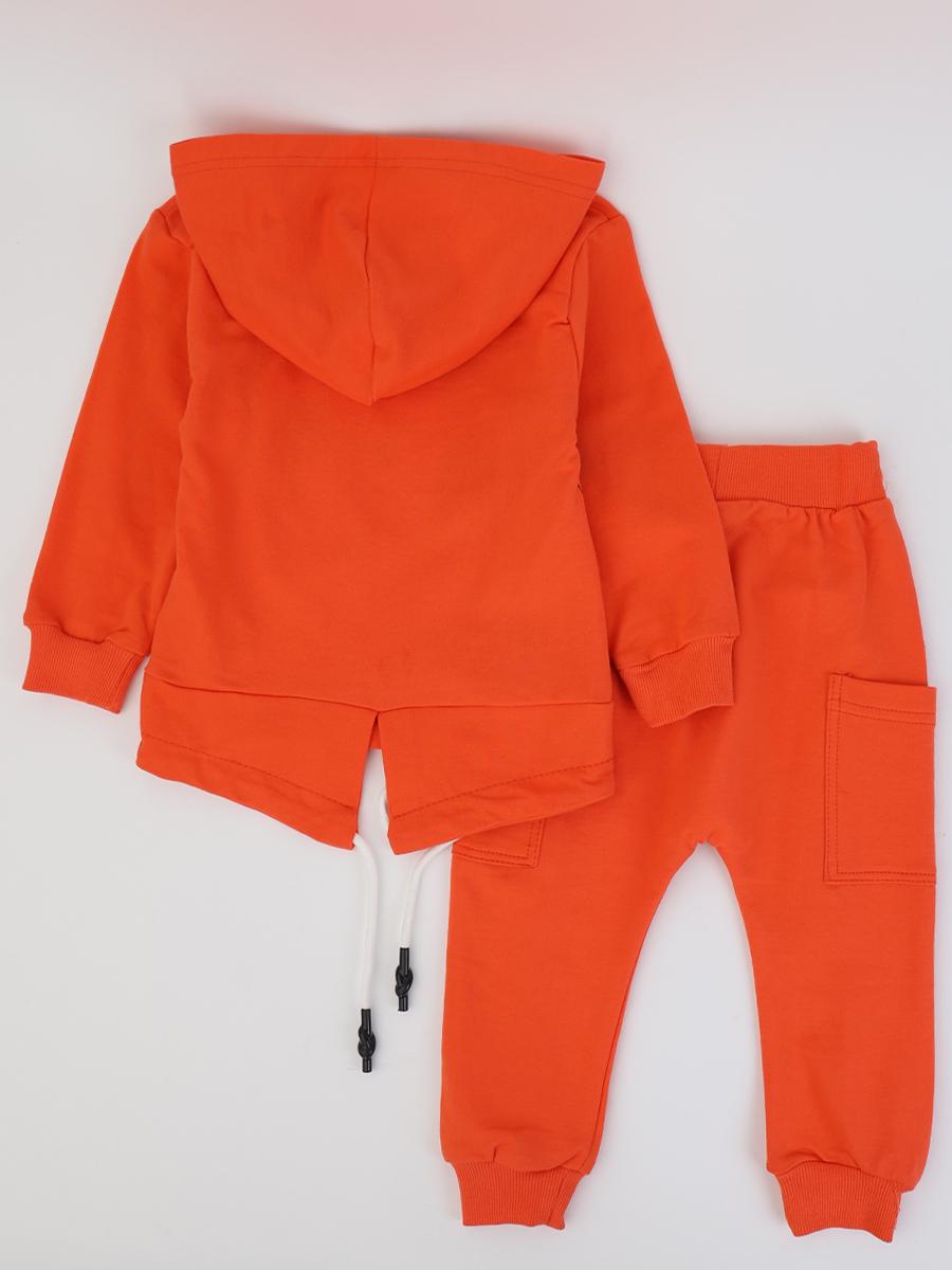 Костюм спортивный для мальчика, цвет: оранжевый
