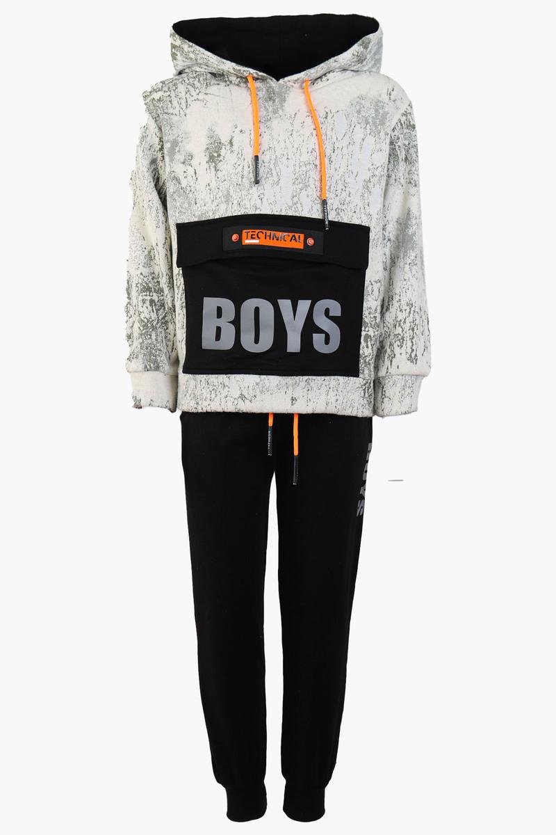 Костюм спортивный для мальчика, цвет: серый
