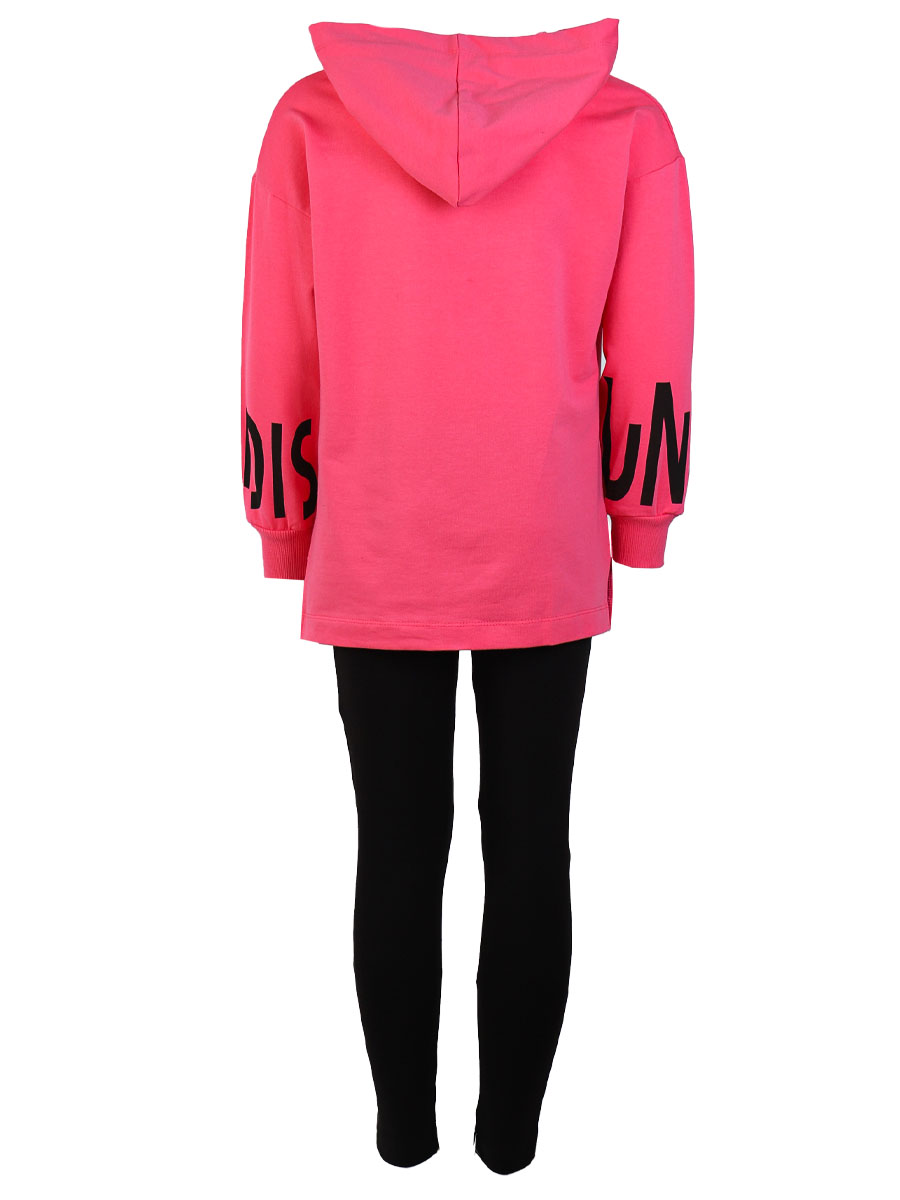 Комплект для девочки: толстовка и лосины, цвет: розовый
