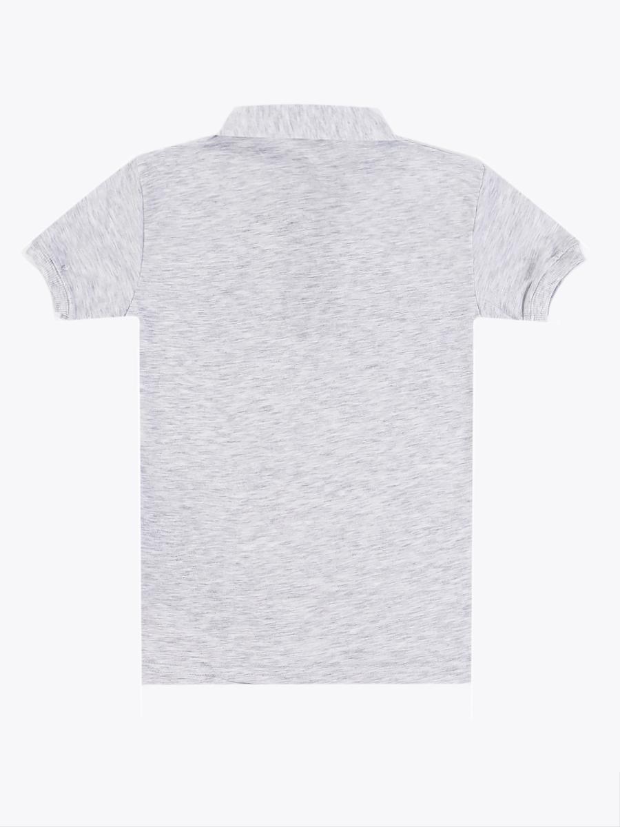 Поло для мальчика, цвет: серый меланж