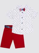 Комплект для мальчика: рубашка, бабочка и брюки с ремнем