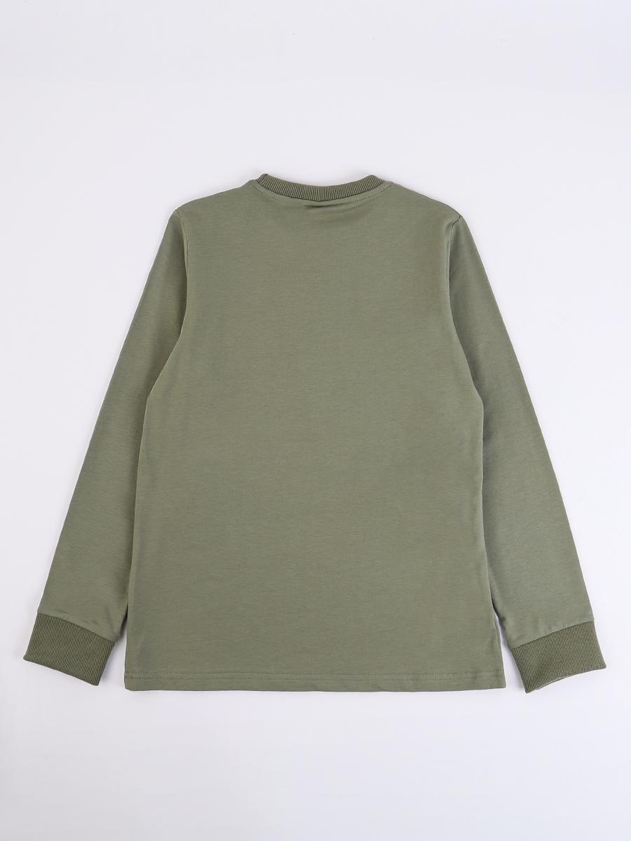 Лонгслив для мальчика, цвет: оливковый