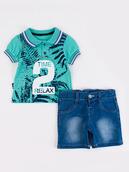 Комплект для мальчика: поло и джинсовые шорты