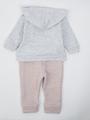 Комплект для девочки: кофточка, штанишки и толстовка, цвет: серый меланж