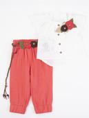 Комплект для девочки: блузка и брюки