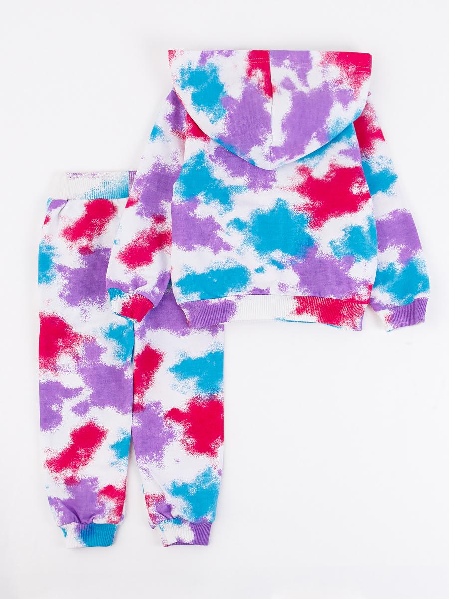 Костюм спортивный: толстовка и брюки для девочки, цвет: фиолетовый