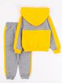 Костюм спортивный: толстовка и брюки для мальчика, цвет: желтый