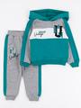 Костюм спортивный: толстовка и брюки для мальчика, цвет: изумрудный
