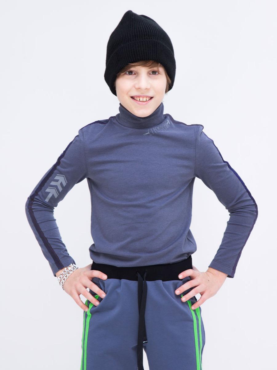 Водолазка для мальчика, цвет: серый меланж