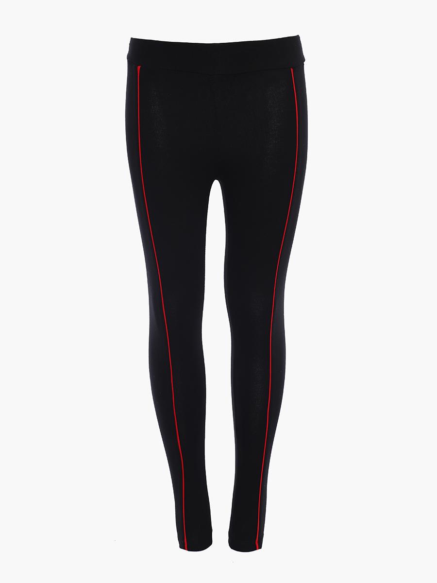 Костюм спортивный:свитшот и лосины облегающие со средней посадкой, цвет: черный