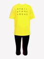 Костюм спортивный:футболка и бриджи облегающие со средней посадкой, цвет: желтый