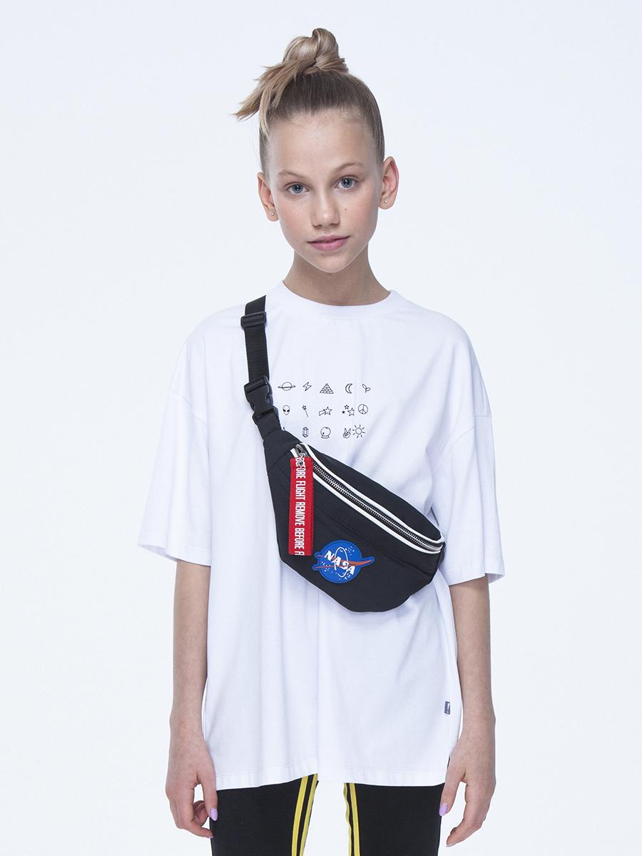 Костюм спортивный:футболка и бриджи облегающие со средней посадкой, цвет: белый