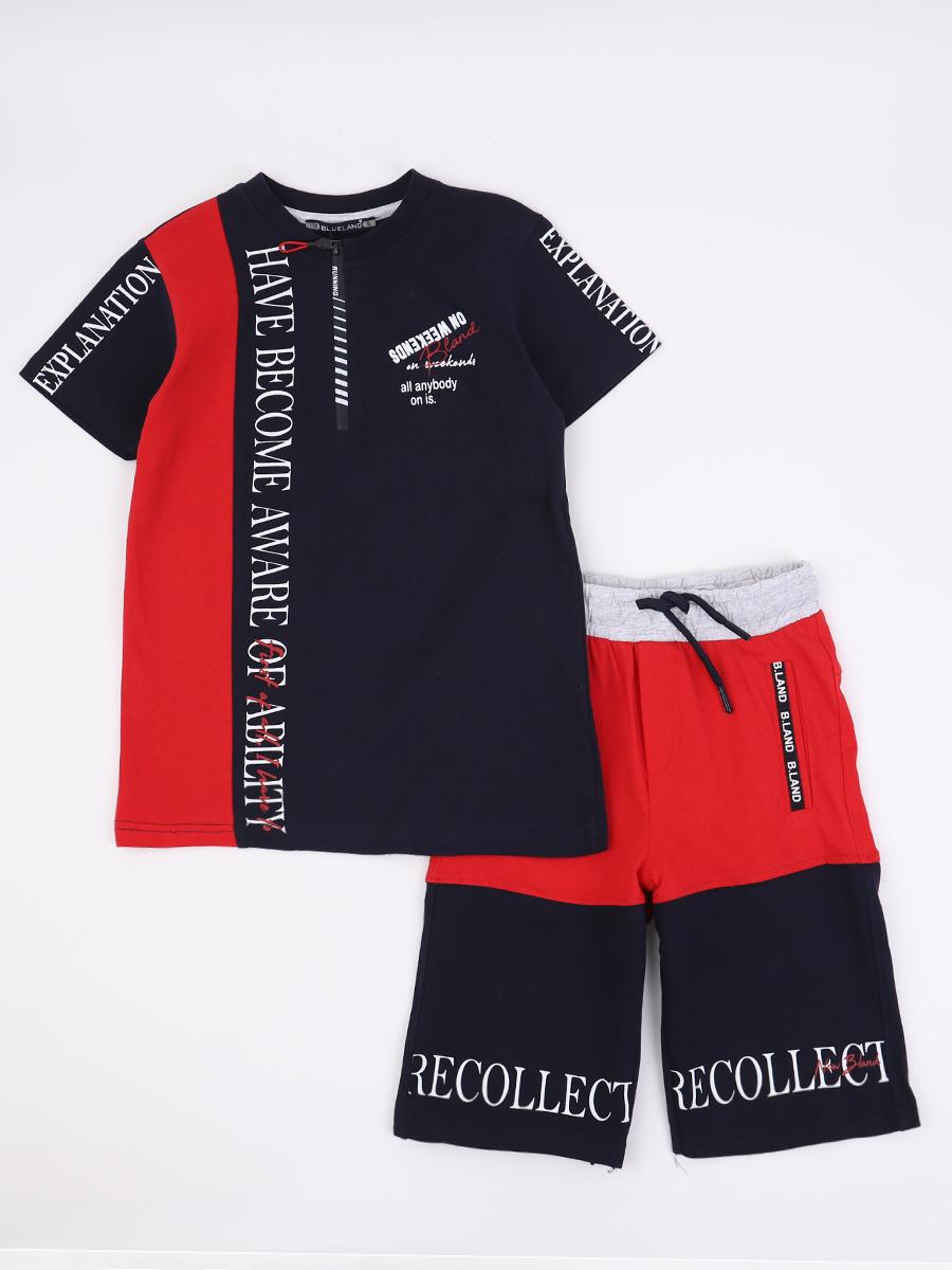 Комплект для мальчика: футболка и шорты, цвет: синий