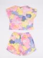 Комплект для девочки: футболка и шорты, цвет: светло-розовый