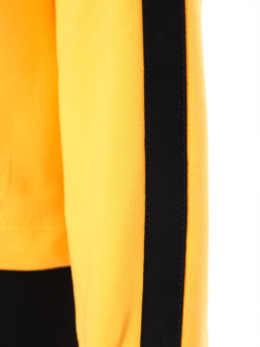 Костюм спортивный:свитшот и брюки полуприлегающие со средней посадкой, цвет: шафрановый