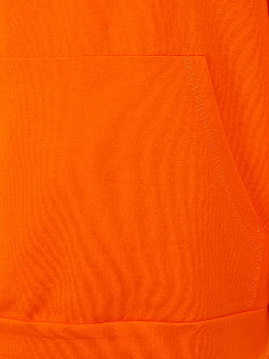 Костюм спортивный:свитшот и брюки широкие с завышенной талией, цвет: оранжевый