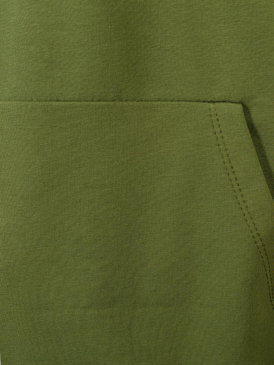 Костюм спортивный:свитшот и брюки широкие с завышенной талией, цвет: хаки