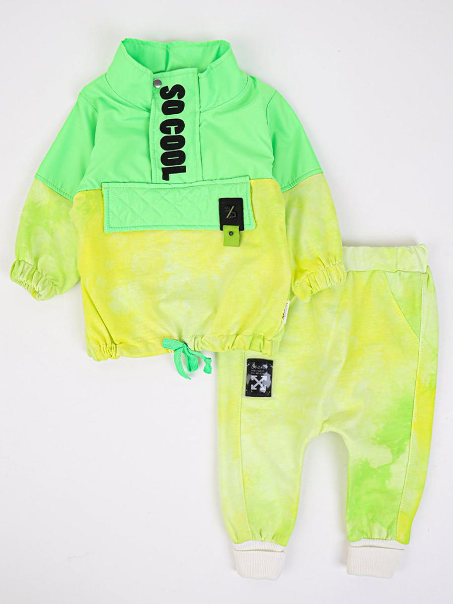 Комплект детский: толстовка и штанишки, цвет: салатовый