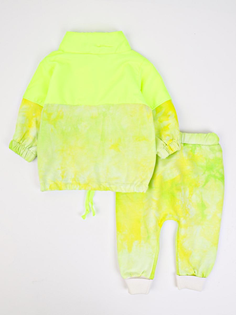 Комплект детский: толстовка и штанишки, цвет: неон зеленый